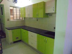 Indian Interior Design, Arch Interior, Kitchen Colors, Kitchen Ideas, Kitchen Design, Compact Kitchen, Smart Kitchen, Bedroom Cabinets, Kitchen Cabinets