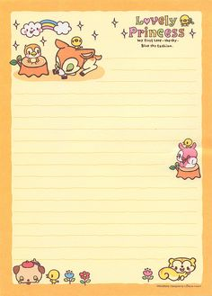 Cute Kawaii Stationery scans   Flickr - Photo Sharing!
