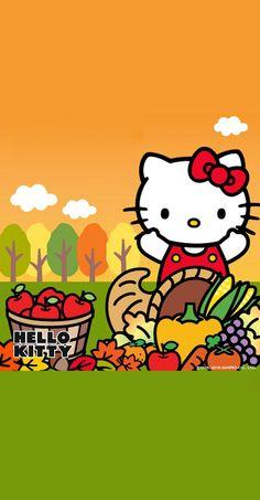 Hello Kitty Hello Kitty Clothes, Pink Hello Kitty, Hello Kitty Wallpaper, Kawaii Wallpaper, Sanrio, Hello Kitty Halloween Costume, Hello Kitty Pictures, Thanksgiving Wallpaper, Fall Wallpaper