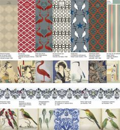 One of the 10 finalists of the Rijksstudio Awards 2014:  Wallpaper collection by Ottoline de Vries
