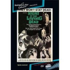 Night of the Living Dead:  The dead come back to life and eat the living. Several people barricade themselves inside a rural house in an attempt to survive the night. Outside are hordes of relentless, shambling zombies who can only be killed by a blow to the head.http://www.reallygreatstuffonline.com/night-of-the-living-dead/