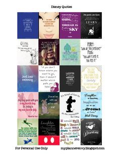 FREEBIE silhouette cut file and pdf fileDisney Quote Stickers for the ECLP | My Planner Envy