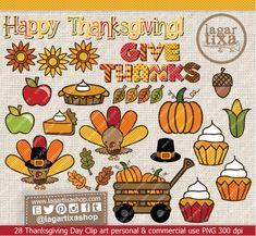 #Thanksgiving #givethanks #acciondegracias #harvest #autumn  https://www.etsy.com/mx/listing/200314419/dia-de-accion-de-gracias-clip-art