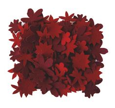 Motif Tapis Little Field of Flowers - Rouge - Nanimarquina