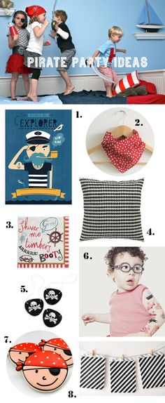 Pirate themed birthday party ideas.