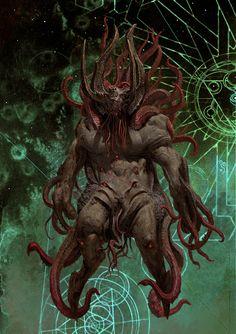 Shub Niggurath by Adrian Smith Cthulhu, Cool Sea Creatures, Adrian Smith, Monster Photos, Lovecraftian Horror, Dark Evil, Eldritch Horror, Dark Artwork, Creature Concept