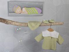 8bda3d244e9cf Chaussons tricotés en cachemire pour bébé. Bulle de Tendresse Habits Pour  Bébé