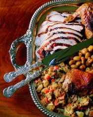 Roasted turkey with stuffing