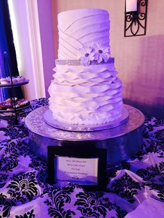 Gourmet Goodies cake on Westminster's silver cake stand