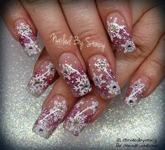 Pink Snowflake Snowglobe Nails by NailedByStacy - Nail Art Gallery nailartgallery.nailsmag.com by Nails Magazine www.nailsmag.com #nailart