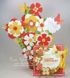 Gift Card Bouquet & Fun-Fold Card!  www.CraftProjectCentral.com