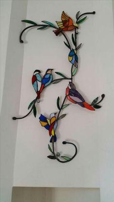 ideas para un espejo con vitral o stained glass ile ilgili görsel sonucu Stained Glass Paint, Stained Glass Birds, Stained Glass Suncatchers, Stained Glass Crafts, Stained Glass Designs, Stained Glass Panels, Stained Glass Patterns, Stained Glass Tattoo, Mosaic Art
