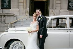 Rolls Royce from http://www.silverstarlimousine.com || Photo by http://www.ashleybartoletti.com ||  Real-kleinfeld-paper-weddings