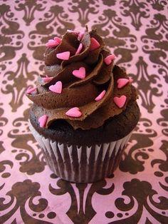 Chocolate Valentine's cupcake