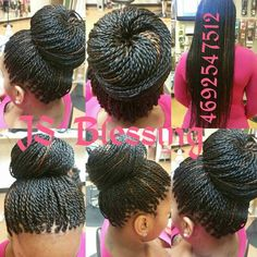 How to style the box braids? Tucked in a low or high ponytail, in a tight or blurry bun, or in a semi-tail, the box braids can be styled in many different ways. Senegalese Twist Crochet Braids, Senegalese Twist Hairstyles, Braided Hairstyles, Cornrow, Hairdos, Sengelese Twist, Box Braids Pictures, Twisted Updo, Braided Updo