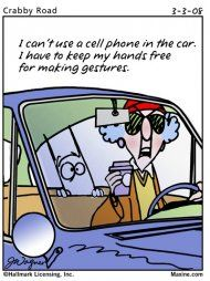 Image result for granny driving cartoon
