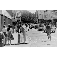 This photograph shows a walking road race mingling with traffic in London Road opposite Sainsbury's and M&S. Brighton Rock, Brighton England, Brighton And Hove, Old Photos, Vintage Photos, Images Of England, Seaside Towns, Black And White Photography, East Coast