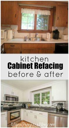 79 best kitchen cabinet refacing images diy ideas for home rh pinterest com