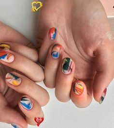54 Exquisite Natural Nails Design For Short Nails  #newyork<br> Cute Summer Nail Designs, Fall Nail Art Designs, Short Nail Designs, Simple Nail Designs, Acrylic Nail Designs, Short Round Nails, Nails Short, Natural Nail Designs, Gel Nails At Home