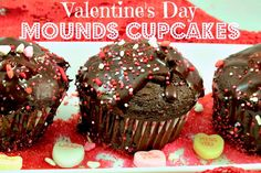 Mounds Inspired Valentine's Day cupcakes #yearofcelebrations