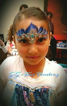 Frozen Crown with bling by Gio https://www.facebook.com/GGsFacePaintingAndKreations/