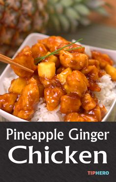 Pineapple Ginger Chicken Recipe | A tropical inspired recipe to spice up your week and delight your taste buds. And best of all it's easy to make with only 20 minutes of prep time. You'll need chicken eggs, apricot pineapple preserves and fresh pineapple to get started.  Click for the video and full recipe and try something new this week! #familydinner #dinnertime #chickendinner #pineapple #easyrecipes