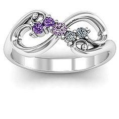 White Gold Flourish Infinity Ring with Gemstones Cute Jewelry, Jewelry Rings, Jewelery, Unique Jewelry, Celtic Wedding Rings, Diamond Wedding Bands, Turquoise Gemstone, Turquoise Jewelry, Silver Jewelry
