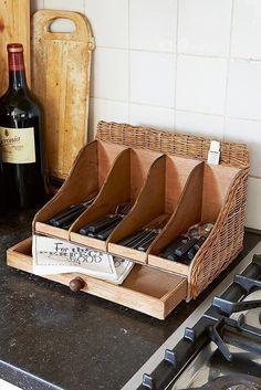 Rivièra Maison Rustic Rattan Drawer Cutlery Organizer