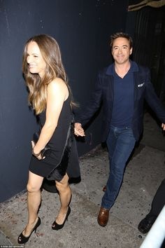 He's her Iron Man! Robert Downey, Jr. was all smiles as he arrived hand in hand with his s...