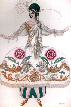 Leon Bakst, costume design for the ballet Russes