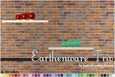 sims 2 download finds — luasims: Earthenware Trio: -With Plumbobs: Box |...