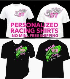 16c47bd40 Items similar to Personalized Racing Shirts! Design your Own Your Shirt,  Add Number Your Name and Saying!