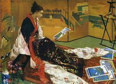 James McNeill Whistler, Caprice in Purple and Gold: The Golden Screen, 1864