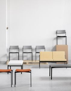 Awesome muted and minimal color block chairs.   Join and get your exclusive subscription of elevated essentials for design enthusiasts @ minimalism.co