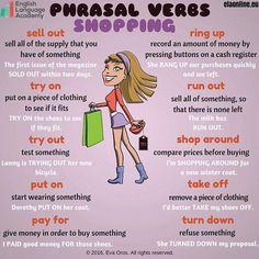 Phrasal Verbs - Shopping ;) ESL,EFL; Phrasal Verbs, English, Language