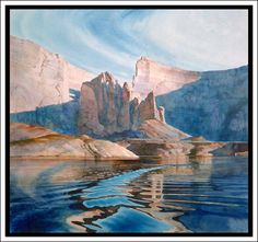 Lake Powell Watercolor by David Drummond