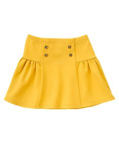 Sailor Button Skirt in Golden Rod Little Girl Skirts, Skirts For Kids, Little Girl Dresses, Trendy Fashion, Kids Fashion, Trendy Style, Woman Fashion, Fashion Clothes, Style Fashion