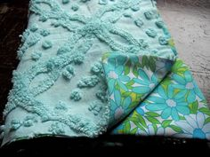 Vintage Fabric Baby Blanket Hand Made with by SparkleBettie, $28.00
