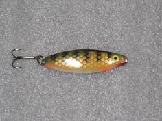 "3 inch ""Perch"" Spoon, Custom Painted, Fishing Lures, Walleye Trolling, Walleye Fishing, Bass Pike Steelhead, Fishing Tackle, mpn:SS-3P"
