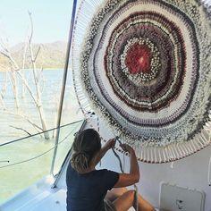 FLOOR WORK #finaltouches #wilderness #restaurantdesign #textileart