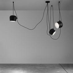 Suspension AIM LED /  Ø 24 cm Suspension noire - Flos - Décoration et mobilier design avec Made in Design