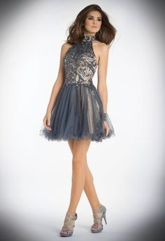 Short Halter Dress with Wire Hem Skirt from Camille La Vie