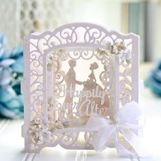 Cheap Cutting Dies, Buy Directly from China Suppliers:Metal Cutting Dies Layered Happily Ever After Etched Dies Elegant Vign For DIY Scrapbooking Paper Card Craft Wedding Day Cards, Wedding Cards Handmade, Wedding Anniversary Cards, Handmade Cards, Paper Cards, Diy Paper, Folded Cards, Diy Scrapbook, Scrapbooking