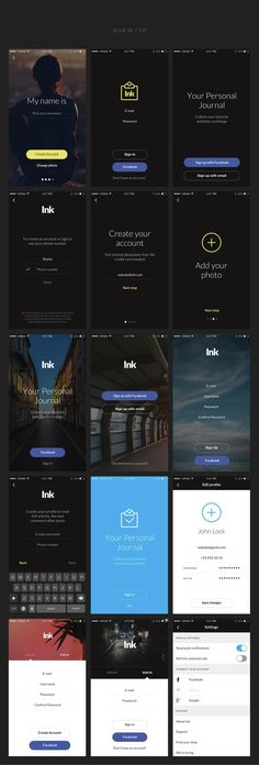 Ink: Ultimate UI Kit of 200+ iOS Templates for Sketch by greatsimple