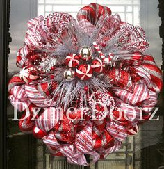 Deco Mesh Wreaths - good examples of how ribbons can change the look of a wreath