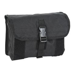 Holds mask, canister, gloves etc. Secured with hook-n-loop flap and adjustable strap with quick-release buckle. Fully lined. Vertical attachment.Size: 10″L x 4″W x 6″H