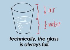 Technically, The Glass Is Always Full T-Shirt by SnorgTees. Men's and women's sizes available. Check out our full catalog for tons of funny t-shirts.