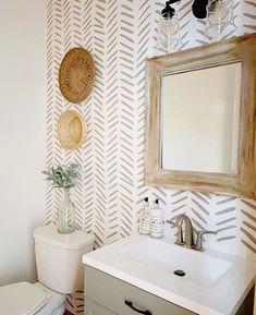 Bathroom Accent Wall, Bathroom Accents, Bathroom Feature Wall, Bathroom Renos, Small Bathroom, Master Bathroom, Bathroom Interior, Modern Bathroom, Bathroom Ideas