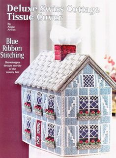 Plastic Canvas Pattern Deluxe Swiss Cottage Tissue Box Cover Gallery.ru / Фото #1 - 8 - 2in1