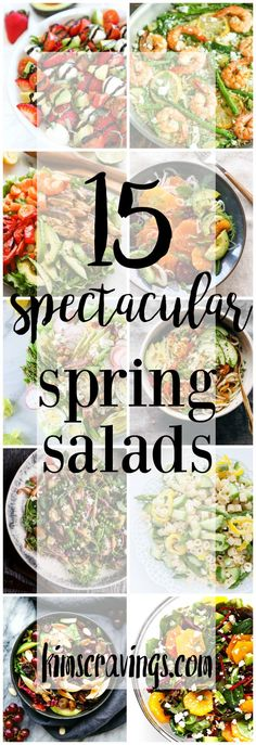 It's time for bright, fresh foods that will definitely get you excited for all things spring and warmer weather. Enjoy this roundup of 15 Spectacular Spring Salads!